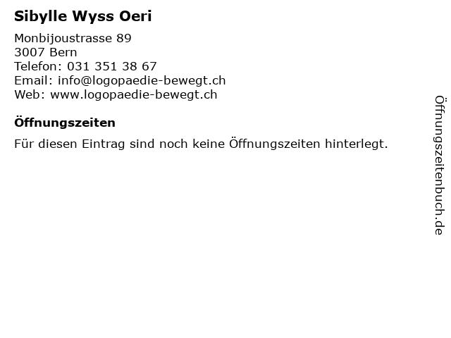 Sibylle Wyss Oeri in Bern: Adresse und Öffnungszeiten