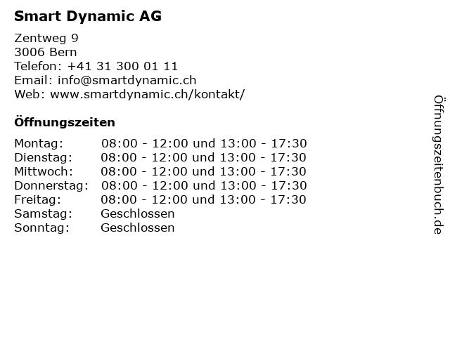 Smart Dynamic AG in Bern: Adresse und Öffnungszeiten