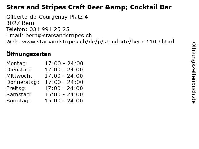Stars and Stripes Craft Beer & Cocktail Bar in Bern: Adresse und Öffnungszeiten