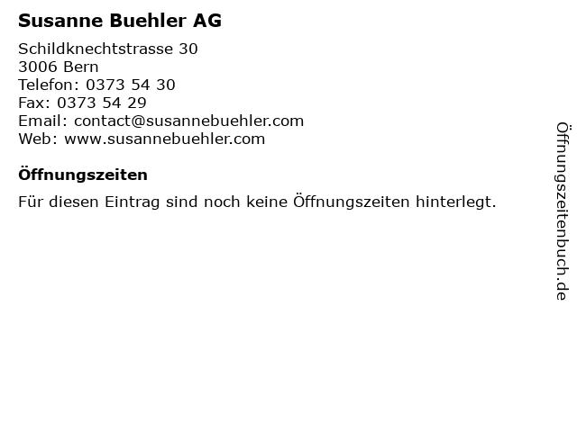 Susanne Buehler AG in Bern: Adresse und Öffnungszeiten