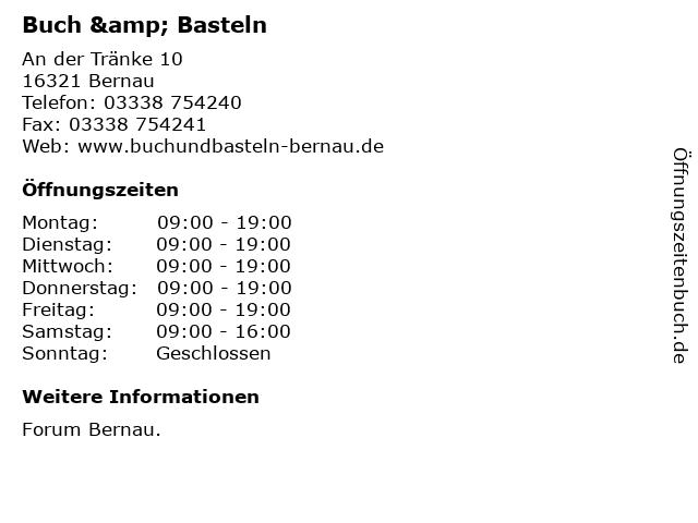 Buch & Basteln in Bernau: Adresse und Öffnungszeiten