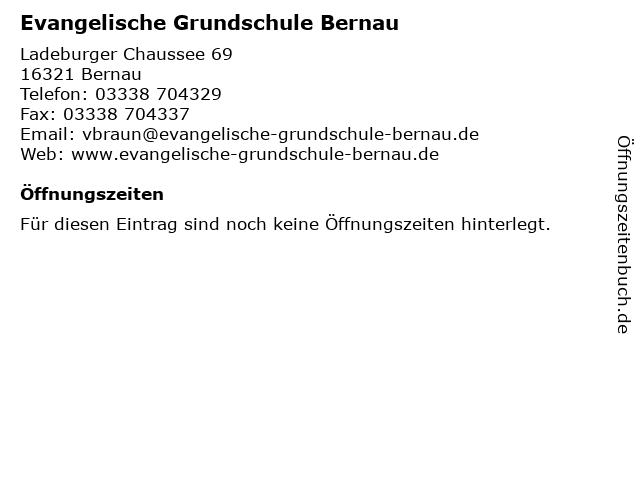Evangelische Grundschule Bernau in Bernau: Adresse und Öffnungszeiten