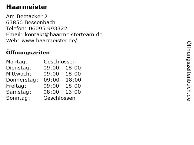 Hopf Susanne Haarmeister in Bessenbach: Adresse und Öffnungszeiten