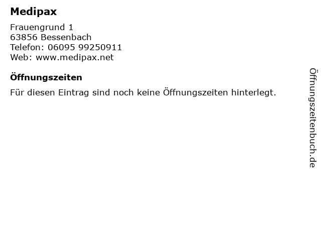 ᐅ Offnungszeiten Medipax Frauengrund 1 In Bessenbach
