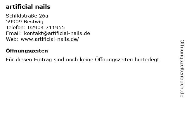 artificial nails in Bestwig: Adresse und Öffnungszeiten