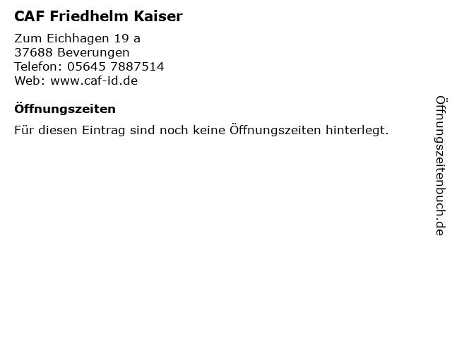 CAF Friedhelm Kaiser in Beverungen: Adresse und Öffnungszeiten