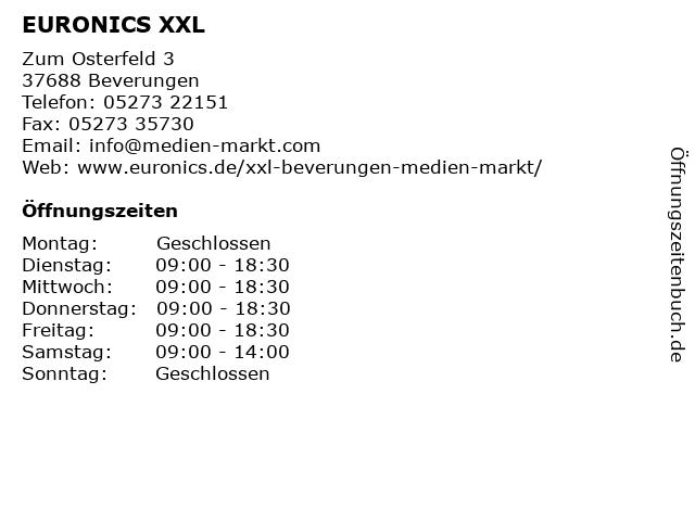 EURONICS XXL Medien Markt - DHL Paketshop in Beverungen: Adresse und Öffnungszeiten