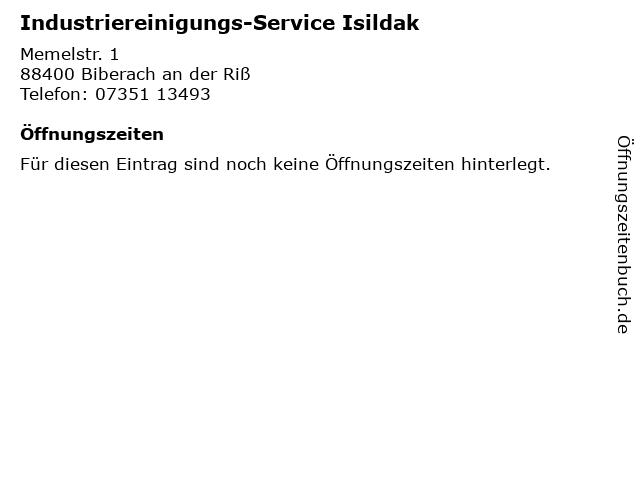 Industriereinigungs-Service Isildak in Biberach an der Riß: Adresse und Öffnungszeiten