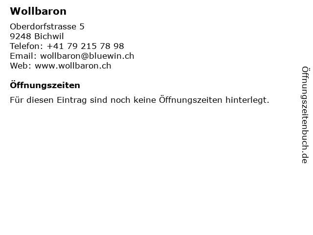 Wollbaron in Bichwil: Adresse und Öffnungszeiten