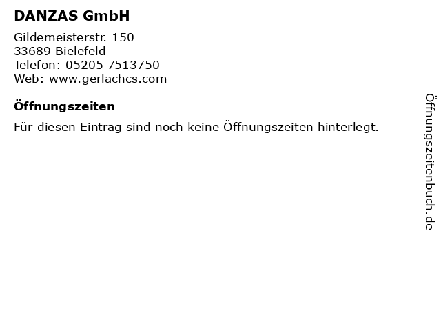 DANZAS GmbH in Bielefeld: Adresse und Öffnungszeiten