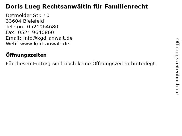 Doris Lueg Rechtsanwältin für Familienrecht in Bielefeld: Adresse und Öffnungszeiten