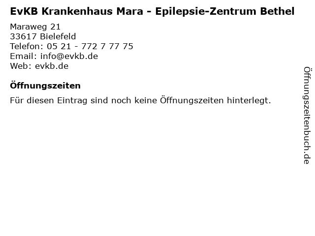 EvKB Krankenhaus Mara - Epilepsie-Zentrum Bethel in Bielefeld: Adresse und Öffnungszeiten