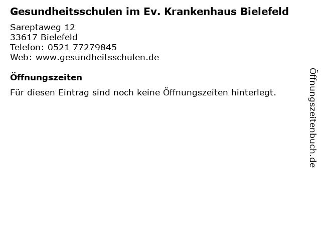 Gesundheitsschulen im Ev. Krankenhaus Bielefeld in Bielefeld: Adresse und Öffnungszeiten