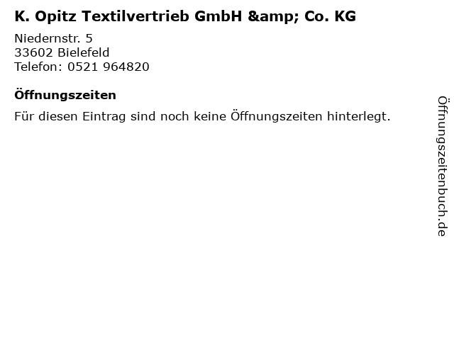 K. Opitz Textilvertrieb GmbH & Co. KG in Bielefeld: Adresse und Öffnungszeiten