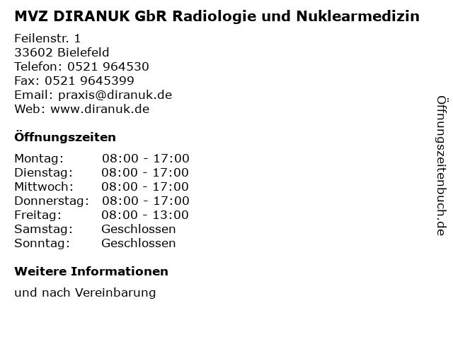 MVZ DIRANUK GbR Radiologie und Nuklearmedizin in Bielefeld: Adresse und Öffnungszeiten