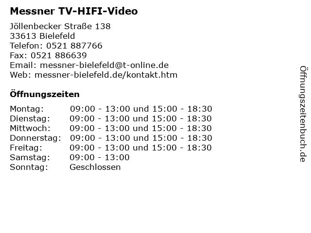 Messner TV-HIFI-Video in Bielefeld: Adresse und Öffnungszeiten