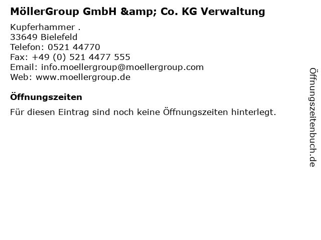 MöllerGroup GmbH & Co. KG Verwaltung in Bielefeld: Adresse und Öffnungszeiten