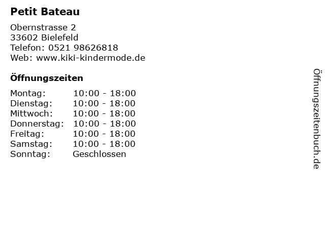 Petit Bateau in Bielefeld: Adresse und Öffnungszeiten