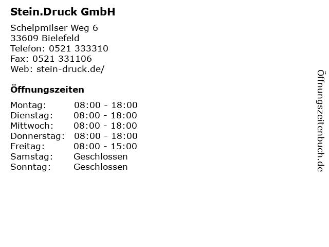 Stein.Druck GmbH in Bielefeld: Adresse und Öffnungszeiten