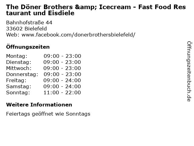 The Döner Brothers & Icecream - Fast Food Restaurant und Eisdiele in Bielefeld: Adresse und Öffnungszeiten