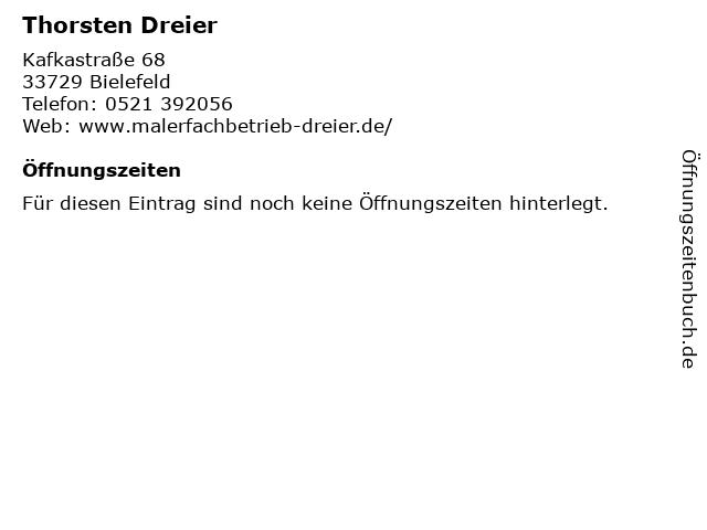 Thorsten Dreier Malerfachbetrieb in Bielefeld: Adresse und Öffnungszeiten