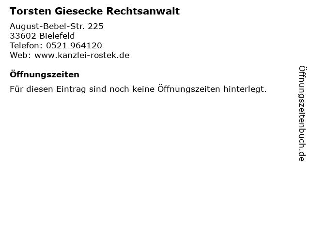Torsten Giesecke Rechtsanwalt in Bielefeld: Adresse und Öffnungszeiten