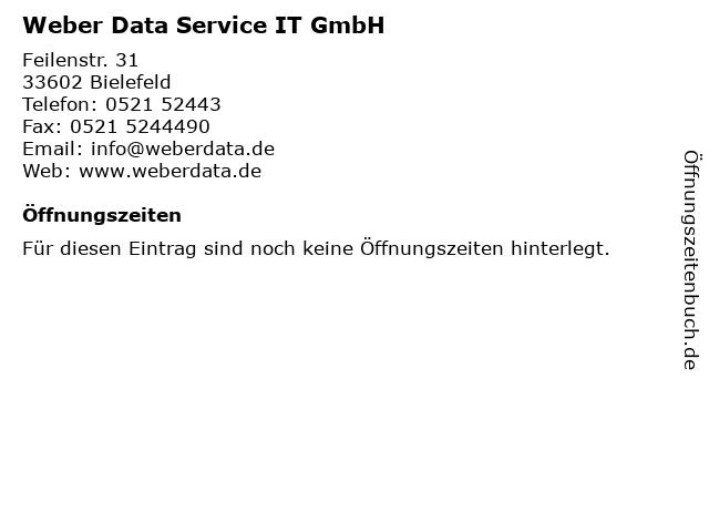 Weber Data Service IT GmbH in Bielefeld: Adresse und Öffnungszeiten