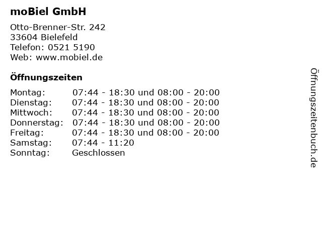 ᐅ öffnungszeiten Mobiel Gmbh Otto Brenner Str 242 In Bielefeld