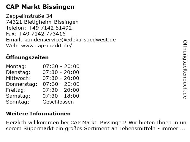 CAP Markt Bissingen in Bietigheim-Bissingen: Adresse und Öffnungszeiten