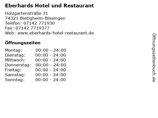 Eberhards Hotel und Restaurant in Bietigheim-Bissingen: Adresse und Öffnungszeiten
