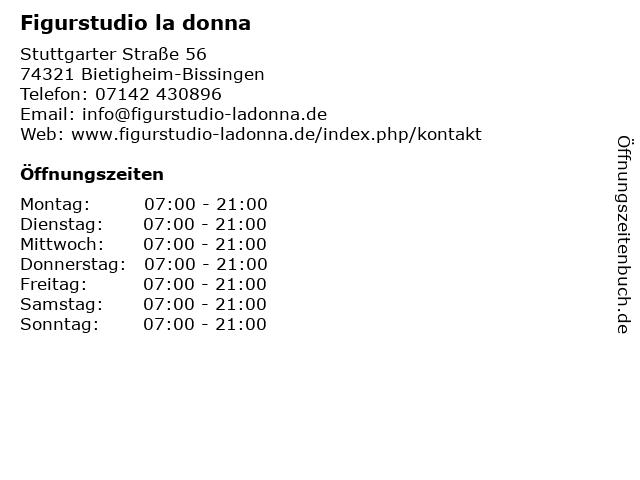 Figurstudio la donna in Bietigheim-Bissingen: Adresse und Öffnungszeiten