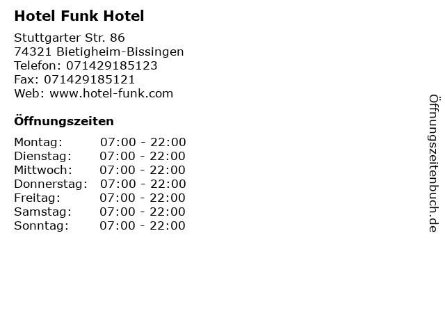 Hotel Funk Hotel in Bietigheim-Bissingen: Adresse und Öffnungszeiten