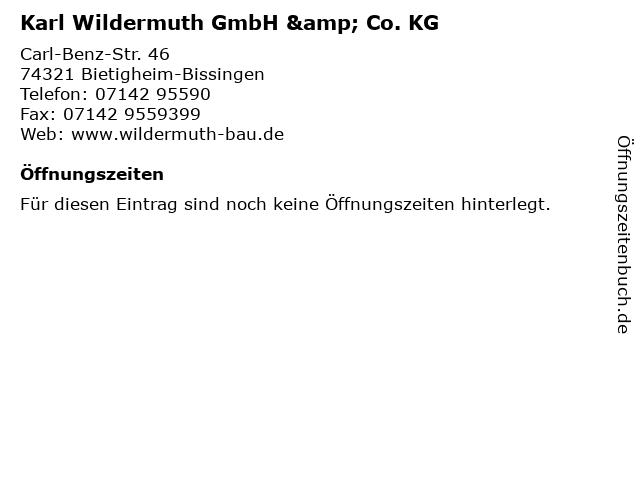 Karl Wildermuth GmbH & Co. KG in Bietigheim-Bissingen: Adresse und Öffnungszeiten