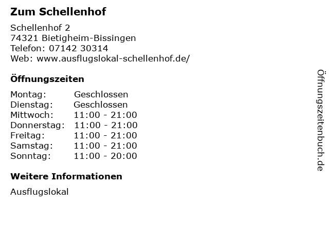 Zum Schellenhof in Bietigheim-Bissingen: Adresse und Öffnungszeiten