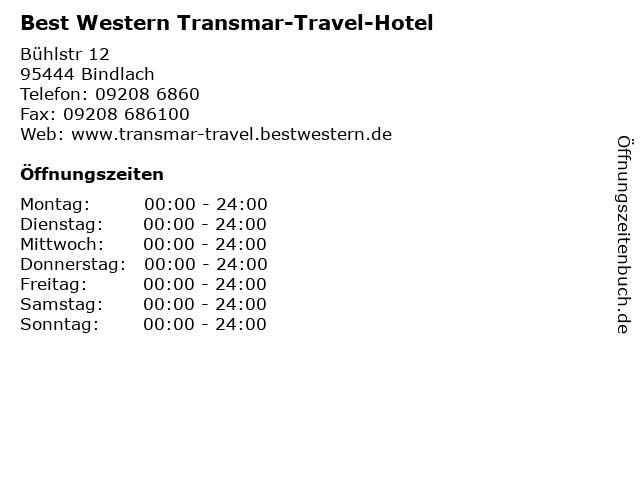 Best Western Transmar-Travel-Hotel in Bindlach: Adresse und Öffnungszeiten