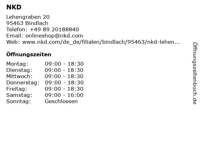 NKD in Bindlach: Adresse und Öffnungszeiten