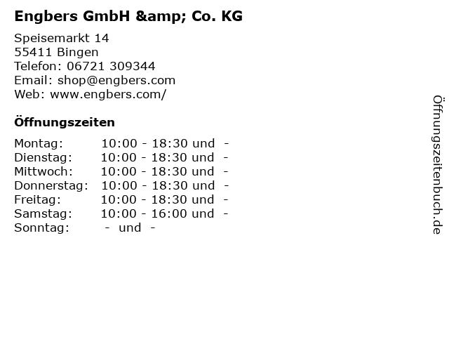 Engbers GmbH & Co. KG in Bingen: Adresse und Öffnungszeiten
