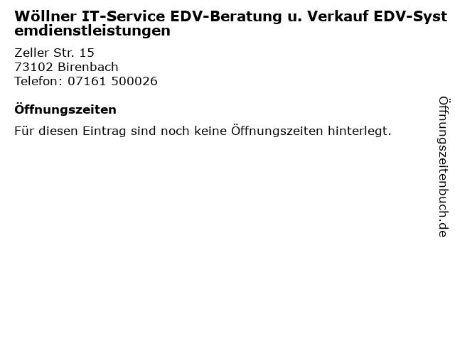 Wöllner IT-Service EDV-Beratung u. Verkauf EDV-Systemdienstleistungen in Birenbach: Adresse und Öffnungszeiten