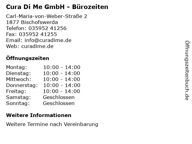 Cura Di Me GmbH - Bürozeiten in Bischofswerda: Adresse und Öffnungszeiten