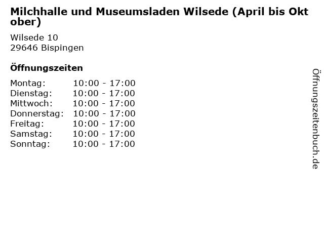 Milchhalle und Museumsladen Wilsede (April bis Oktober) in Bispingen: Adresse und Öffnungszeiten