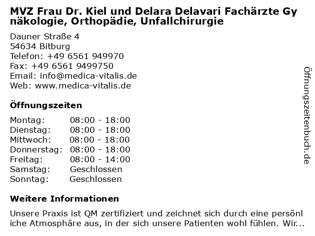 Dr kiel bitburg