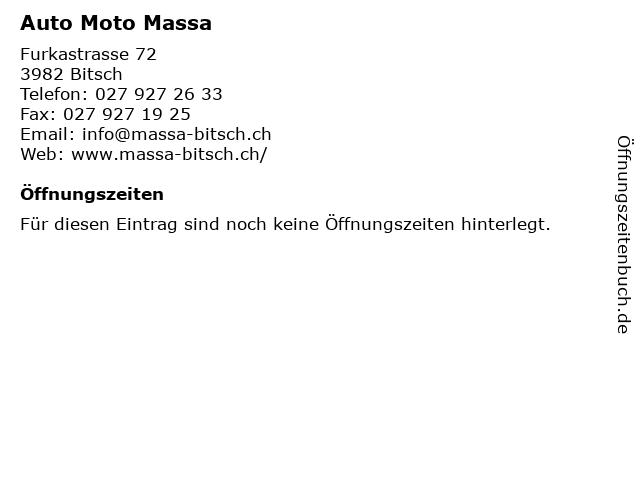 Auto Moto Massa in Bitsch: Adresse und Öffnungszeiten