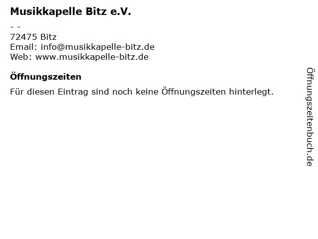 Musikkapelle Bitz e.V. in Bitz: Adresse und Öffnungszeiten