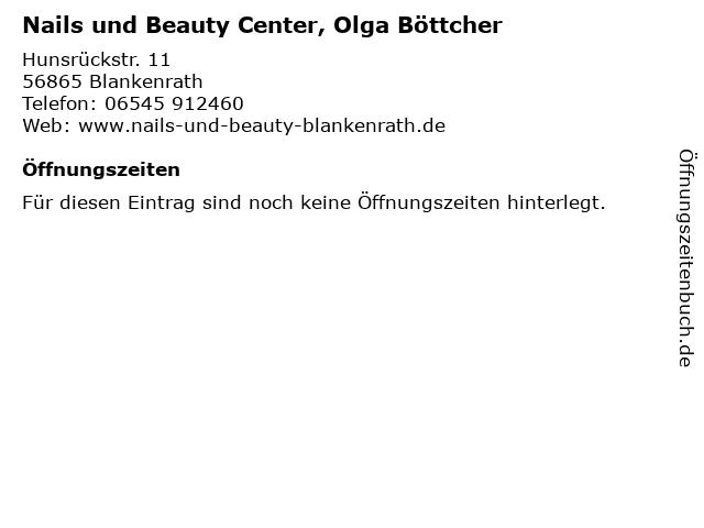 Nails und Beauty Center, Olga Böttcher in Blankenrath: Adresse und Öffnungszeiten