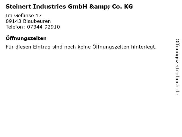 Steinert Industries GmbH & Co. KG in Blaubeuren: Adresse und Öffnungszeiten