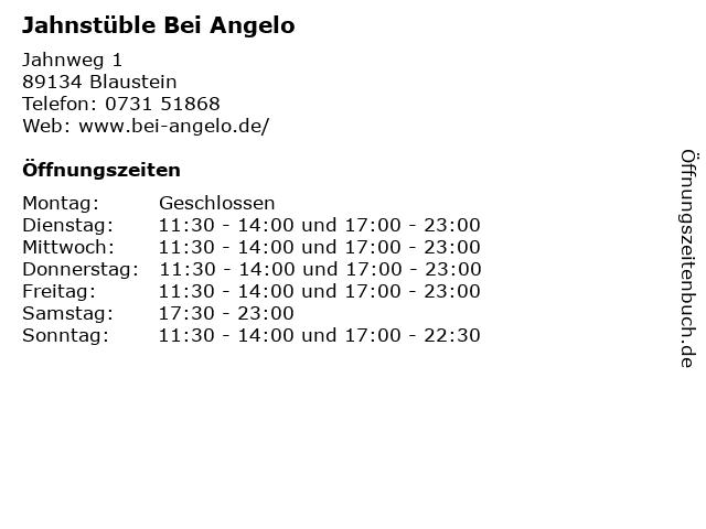 Jahnstüble Bei Angelo in Blaustein: Adresse und Öffnungszeiten