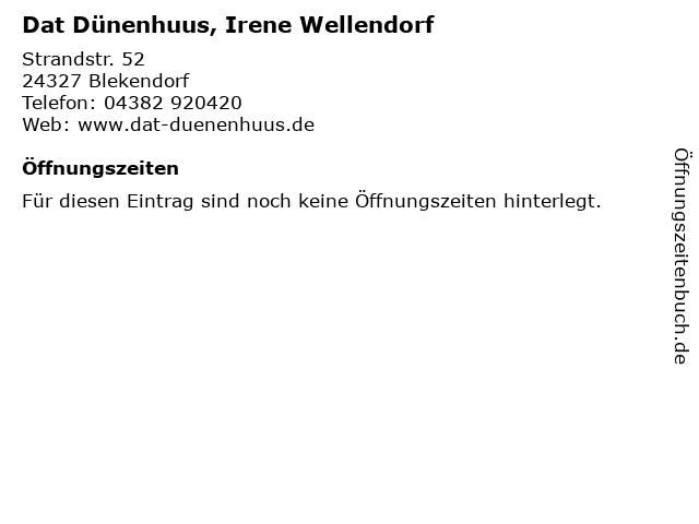 Dat Dünenhuus, Irene Wellendorf in Blekendorf: Adresse und Öffnungszeiten