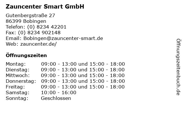 Zauncenter Smart GmbH in Bobingen: Adresse und Öffnungszeiten