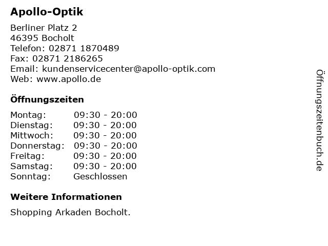 Apollo-Optik Holding GmbH & Co. KG in Bocholt: Adresse und Öffnungszeiten