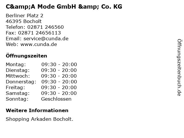 C&A Mode GmbH & Co. KG in Bocholt: Adresse und Öffnungszeiten